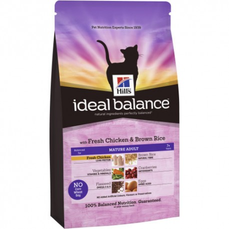 Hill's™ Ideal Balance™ Feline Mature Adult Pollo y Arroz 2kg