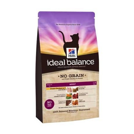 Hill's™ Ideal Balance™ Feline Adult No Grain Pollo-Patata 2kg