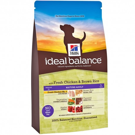 Hill's™ Ideal Balance™ Canine Mature Adult con Pollo & Arroz Integral 12kg
