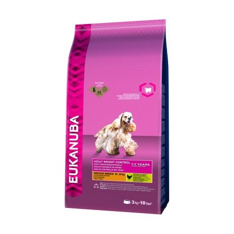 Eukanuba Adult Light Razas Medianas 3 kg