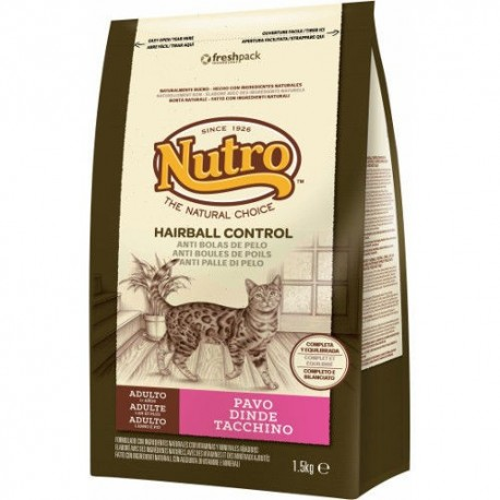 Nutro Natural Choice Hairball Control Pavo para gatos 1,5 kg