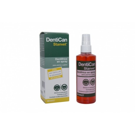 Spray dentífrico Dentican para perros y gatos 125 ml