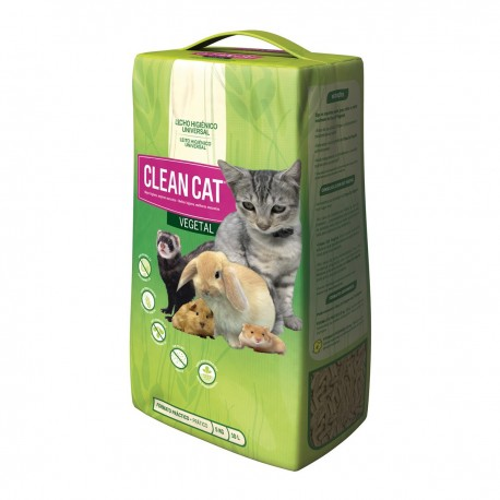 Lecho higiénico Vegetal para gatos Clean Cat 5 kg