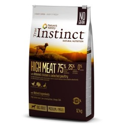 Pienso para perros adultos True Instinct High Meat Medium - Maxi con pollo
