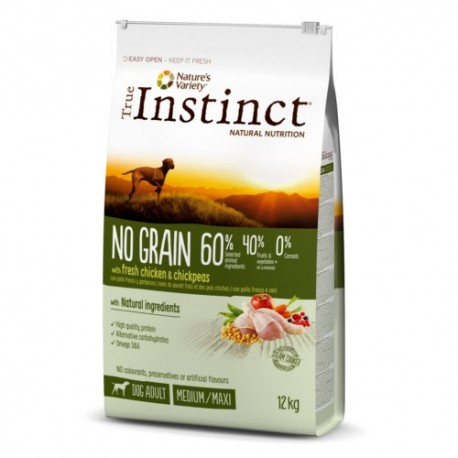 Pienso para perros True Instinct No Grain adultos Medium-Maxi con pollo