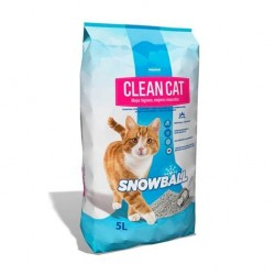 Arena para Gatos Clean Cat Snow Ball 5L