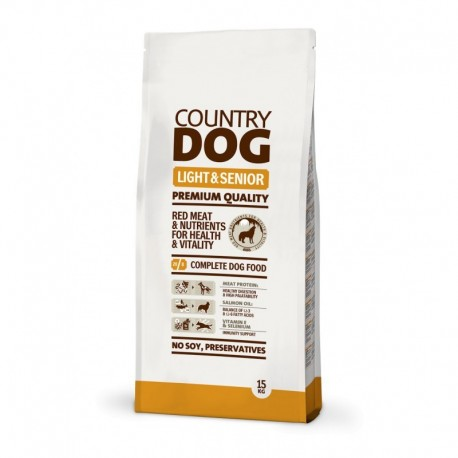 Country Dog Food Light & Senior Alimento para perros 15Kg