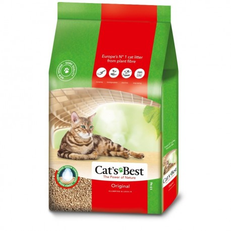 Arena para gatos Cats best Original 17,2 kg