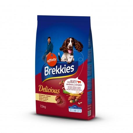Brekkies Delicious pienso para perros con buey 12 kg