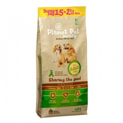 Planet Pet Adulto Pollo y Arroz 15+2Kg