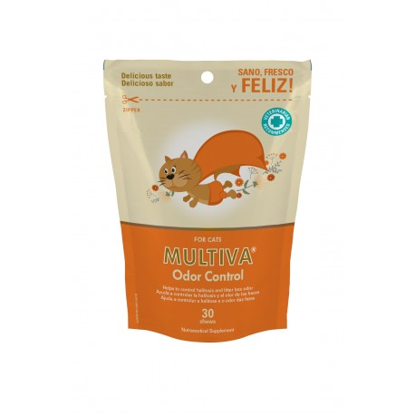 Vetnova Multiva odor control para gatos 30 chews