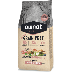 Ownat Just Grain Free adulto pollo para gato 3 kg