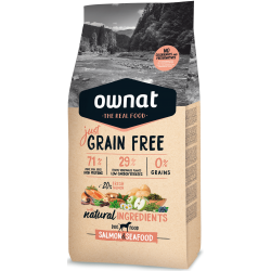 Ownat Just Grain Free Canine Salmon & Seafood para perros 3 kg