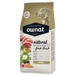 Ownat Classis canine pato para perros 20 kg