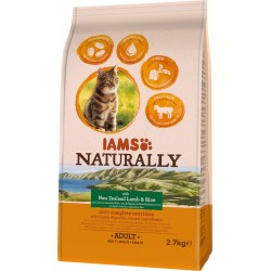 Iams Naturally feline gatos adultos cordero 2,7 kg