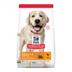 Hill's Adult light perros razas grandes pollo 14 kg